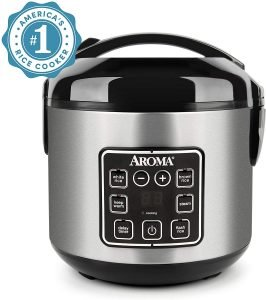 Aroma Housewares Rice Cooker with Stainless Steel Pot