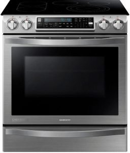 SAMSUNG Slide-In Induction Range, 30-Inch, Stainless Steel