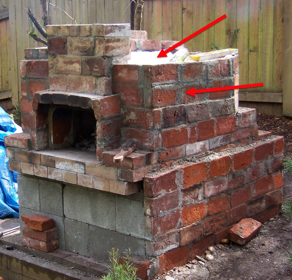 Build the outer part of the oven