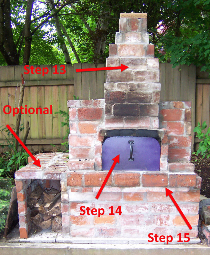 Steps 13-15 Finish the flue and oven door