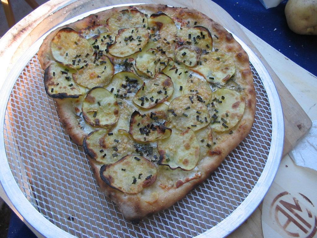 Potato and Chive Pizza